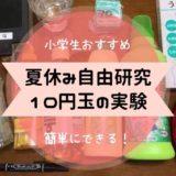 夏休み 自由研究 小学生 10円玉