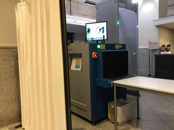 日本銀行本店のセキュリティチェック